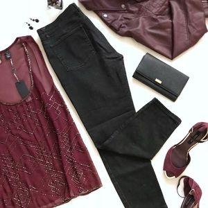 White House Black Market Black Skinny Jeans Large
